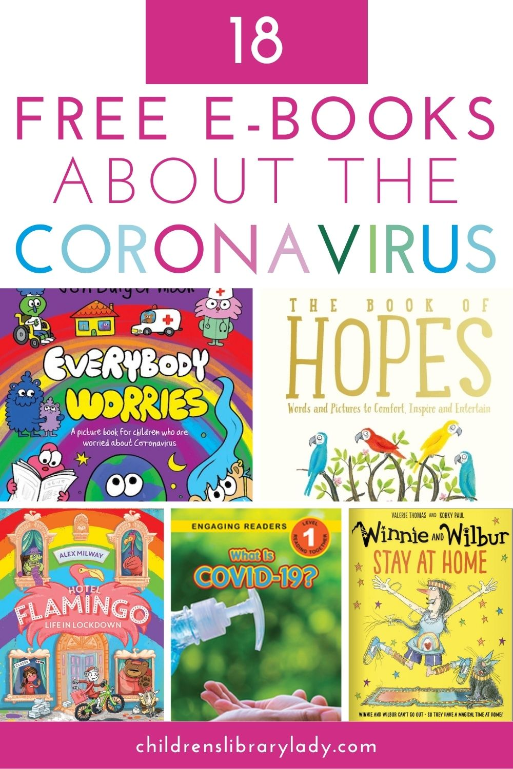 18 Free ebooks about the Coronavirus for Children