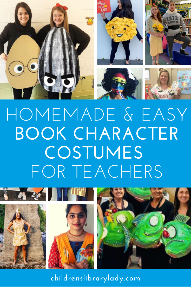 Homemade and Easy Book Character Costumes For Teachers