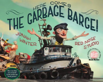 book cover for Here Comes the Garbage Barge